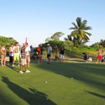 Playing a round on Coco Island