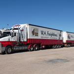 WA Freightliners the transport company who delivered the goods.